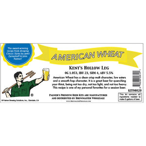 Cowboy Craft LLC Palmer Premium Beer Kits - Kent's Hollow Leg - American Wheat | クラフトビール直送のCowboy Craft