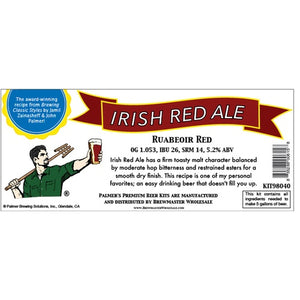 Cowboy Craft LLC Palmer Premium Beer Kits - Ruabeoir - Irish Red Ale | クラフトビール直送のCowboy Craft