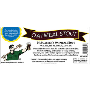 Cowboy Craft LLC Palmer Premium Beer Kits - McQuaker's - Oatmeal Stout | クラフトビール直送のCowboy Craft