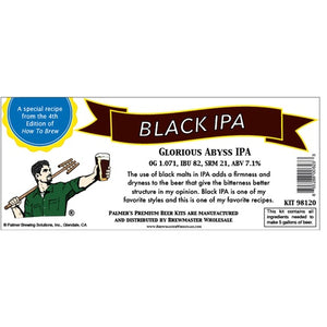 Cowboy Craft LLC Palmer Premium Beer Kits - Glorious Abyss - Black IPA ホームブルーキット(18.9リットル用)  | クラフトビール直送のCowboy Craft