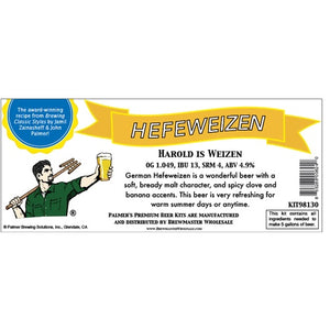 Cowboy Craft LLC Palmer Premium Beer Kits - Harold is Weizen - Hefeweizen | クラフトビール直送のCowboy Craft