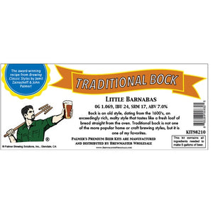 Cowboy Craft LLC Palmer Premium Beer Kits - Little Barnabas - Traditional Bock ホームブルーキット(18.9リットル用)  | クラフトビール直送のCowboy Craft