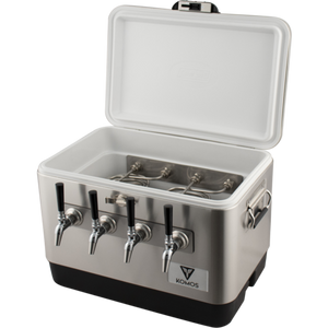 Cowboy Craft LLC Komos™ Stainless Steel Draft Box - 4 Tap ケグレーター・持ち運び容器  | クラフトビール直送のCowboy Craft