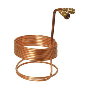 "Cowboy Craft LLC Water Efficient Immersion Wort Chiller (25' x 3/8"" With Brass Fittings) 