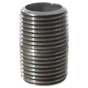 "Cowboy Craft LLC Stainless Nipple - 3/8""x1"" Threaded (Close) 