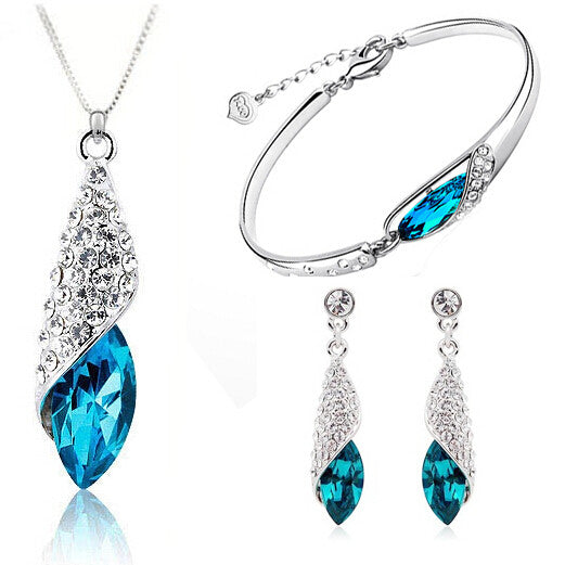Silver & Sapphire Jewelry Set - Shevoila Jewelry & Clothing