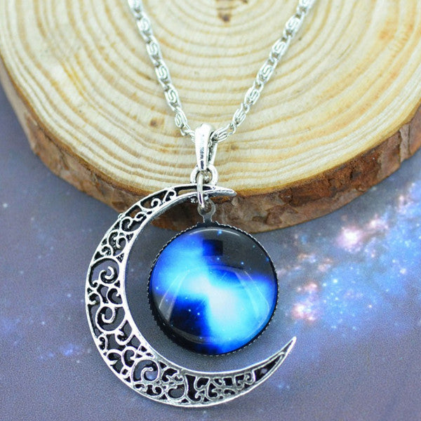 Moon & Galaxy Necklace - Shevoila Jewelry & Clothing - 10