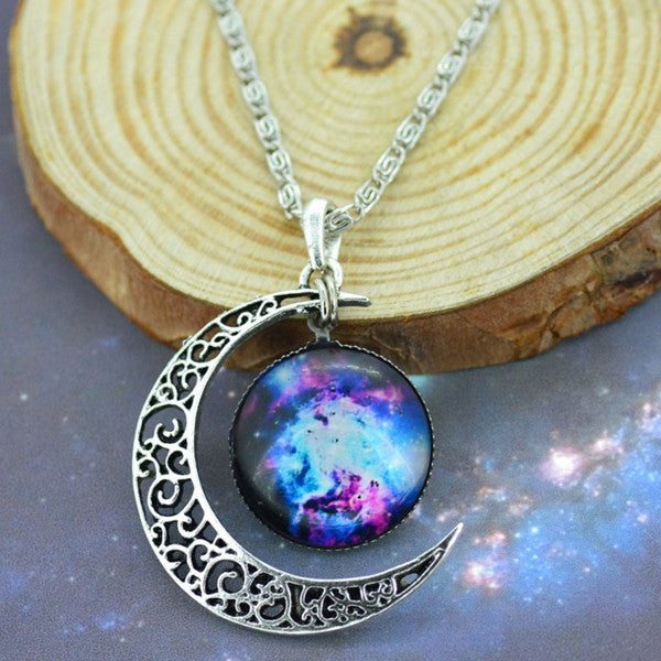 Moon & Galaxy Necklace - Shevoila Jewelry & Clothing - 11