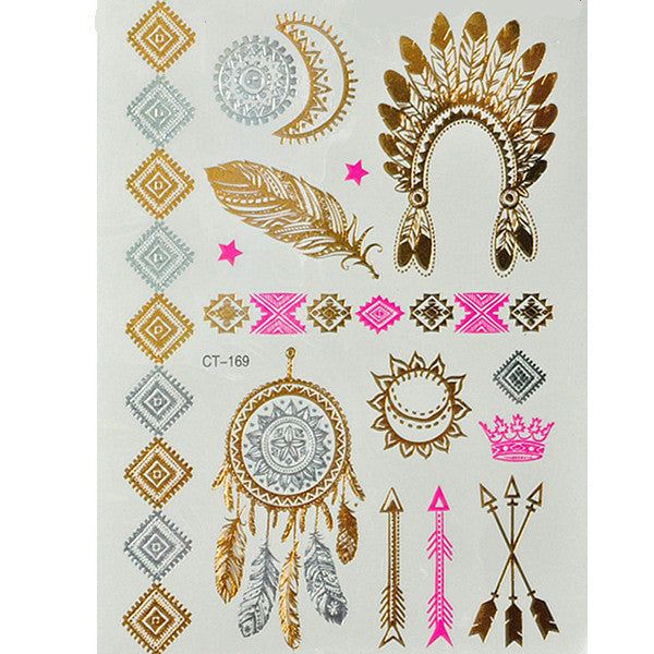 Flash Tattoos Gold/Silver - Shevoila Jewelry & Clothing - 4
