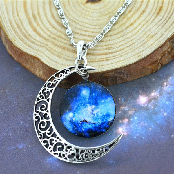 Moon & Galaxy Necklace - Shevoila Jewelry & Clothing - 12