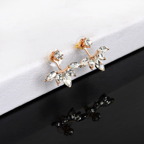 Crystal Rose Gold & Silver Earrings - Shevoila Jewelry & Clothing - 6
