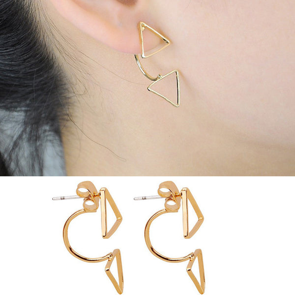 Crystal Rose Gold & Silver Earrings - Shevoila Jewelry & Clothing - 4