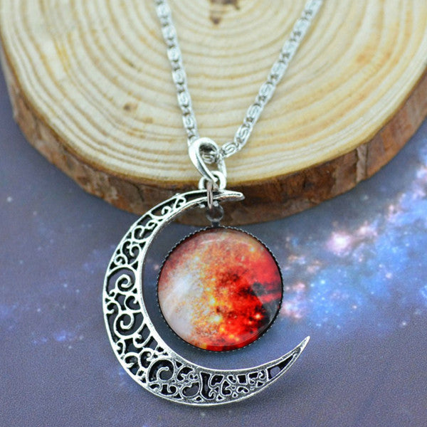 Moon & Galaxy Necklace - Shevoila Jewelry & Clothing - 2