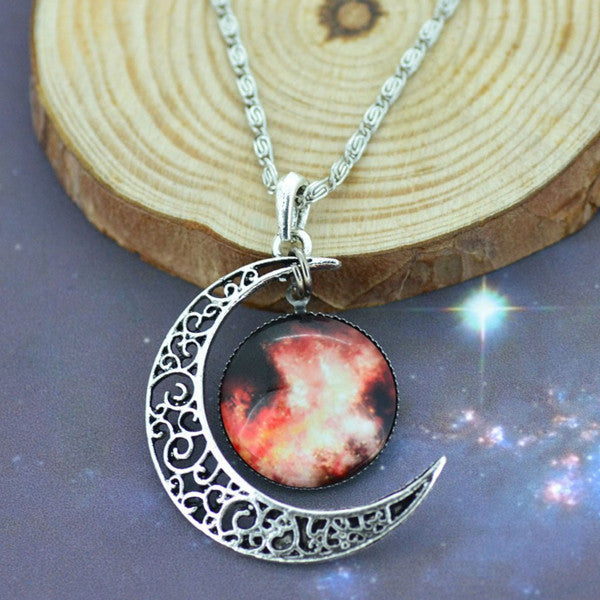 Moon & Galaxy Necklace - Shevoila Jewelry & Clothing - 3