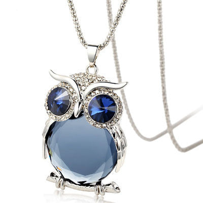 Crystal Owl Necklace - Shevoila Jewelry & Clothing - 2
