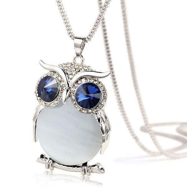 Crystal Owl Necklace - Shevoila Jewelry & Clothing - 4