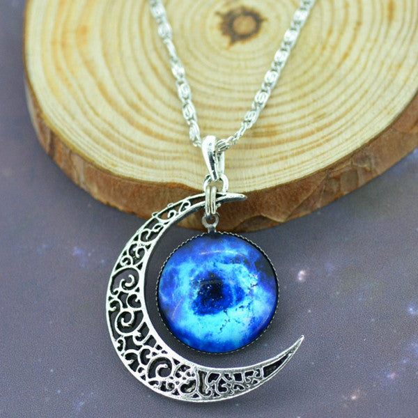 Moon & Galaxy Necklace - Shevoila Jewelry & Clothing - 4