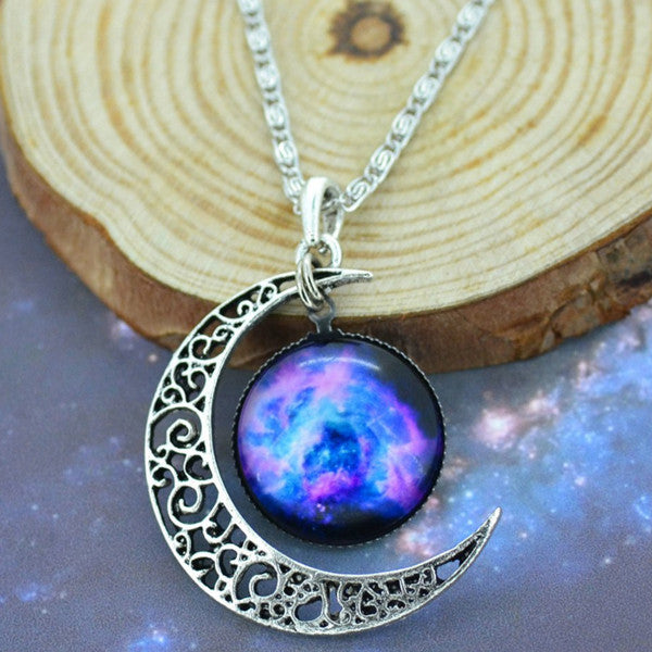 Moon & Galaxy Necklace - Shevoila Jewelry & Clothing - 5