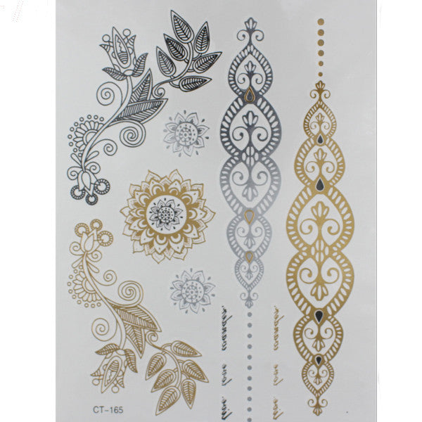 Flash Tattoos Gold/Silver - Shevoila Jewelry & Clothing - 2