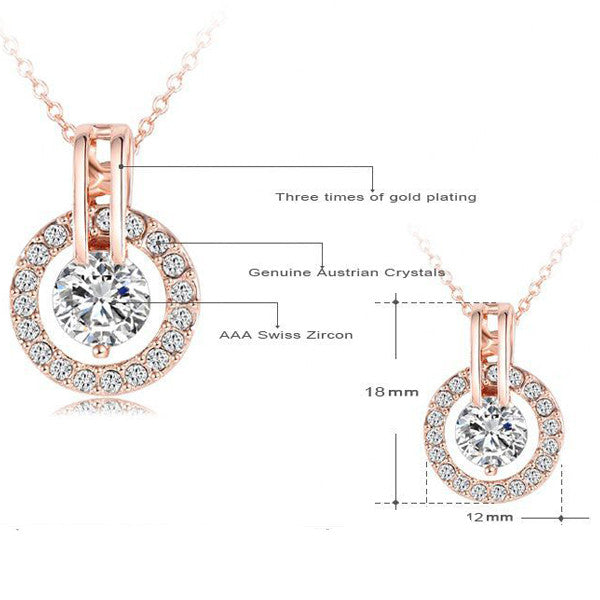 Rose Gold & Diamond Pendant - Shevoila Jewelry & Clothing - 2