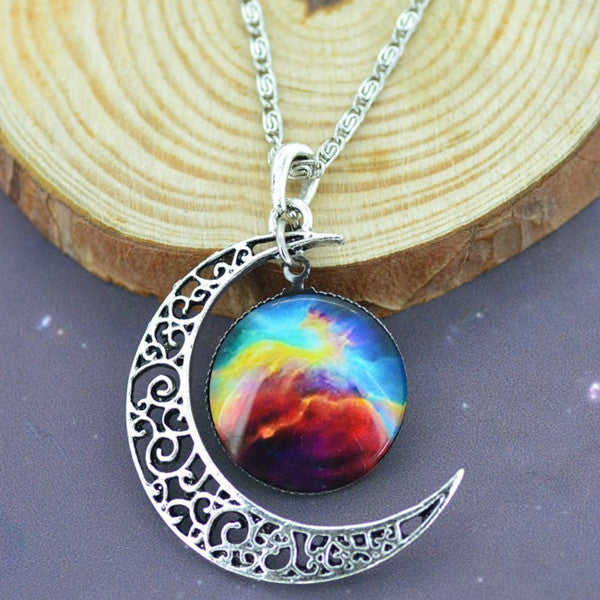 Moon & Galaxy Necklace - Shevoila Jewelry & Clothing - 6