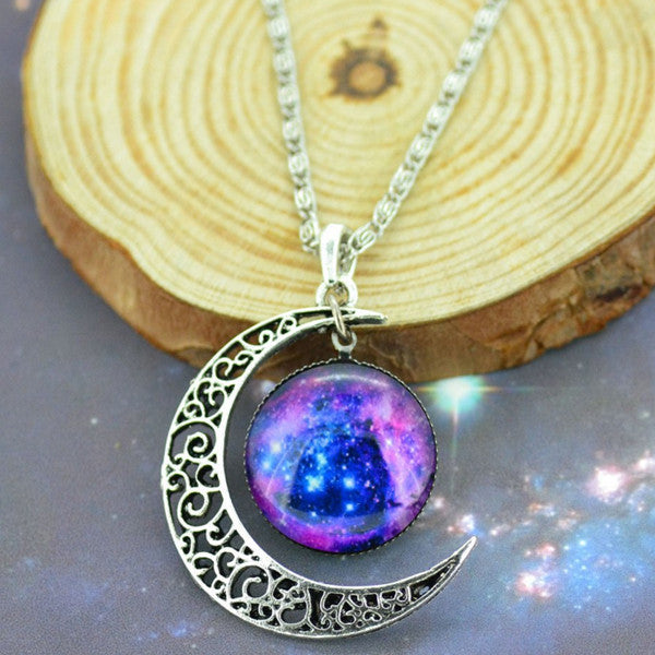 Moon & Galaxy Necklace - Shevoila Jewelry & Clothing - 7