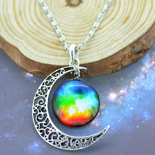 Moon & Galaxy Necklace - Shevoila Jewelry & Clothing - 8