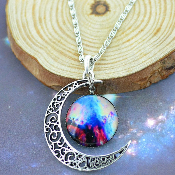 Moon & Galaxy Necklace - Shevoila Jewelry & Clothing - 9