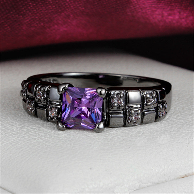 Amethyst Diamond Ring - Shevoila Jewelry & Clothing - 2