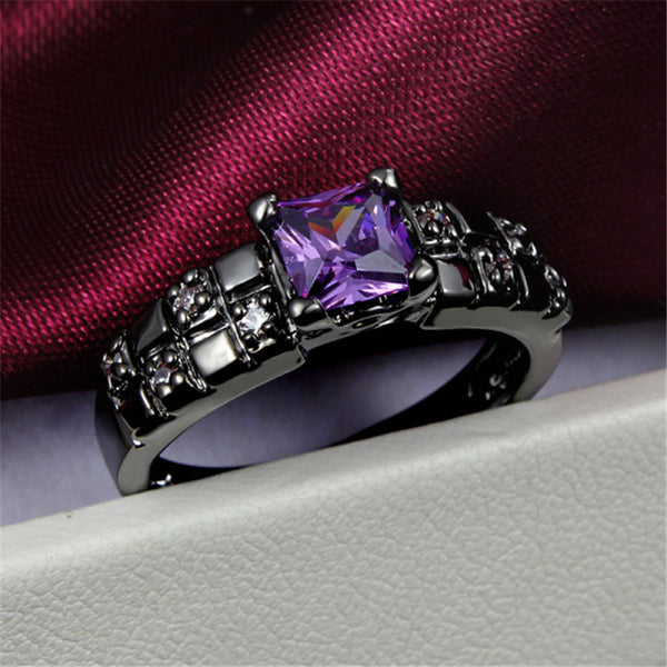 Amethyst Diamond Ring - Shevoila Jewelry & Clothing - 1
