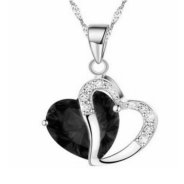 Silver Heart Necklace - Shevoila Jewelry & Clothing - 5