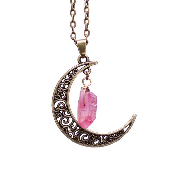 Natural Gemstone Moon Necklaces - Shevoila Jewelry & Clothing - 6