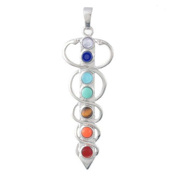 Natural Gemstone Chakra Pendants - Shevoila Jewelry & Clothing - 7