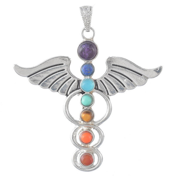 Natural Gemstone Chakra Pendants - Shevoila Jewelry & Clothing - 3