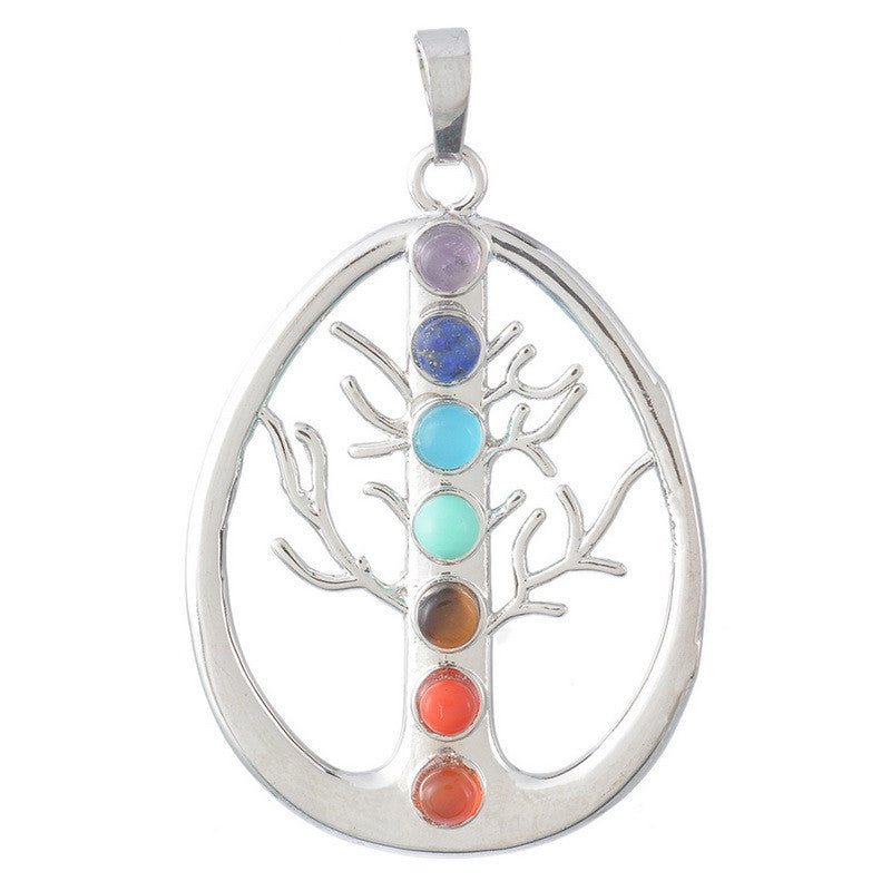 Natural Gemstone Chakra Pendants - Shevoila Jewelry & Clothing - 2