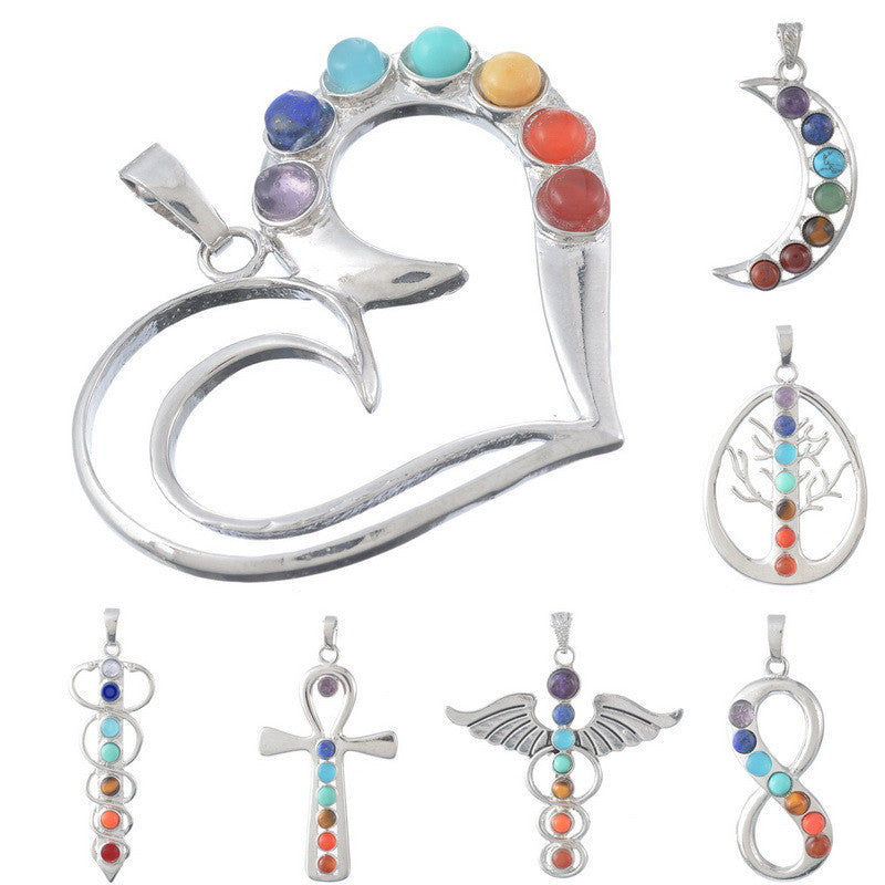 Natural Gemstone Chakra Pendants - Shevoila Jewelry & Clothing - 1