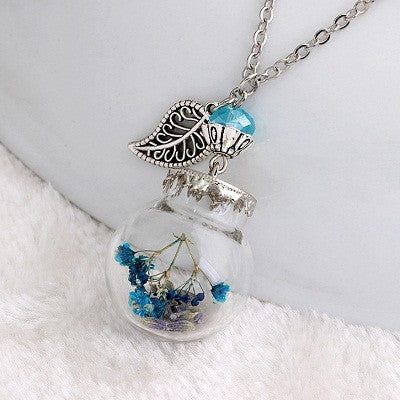 Flower Bottle Necklace - Shevoila Jewelry & Clothing - 6