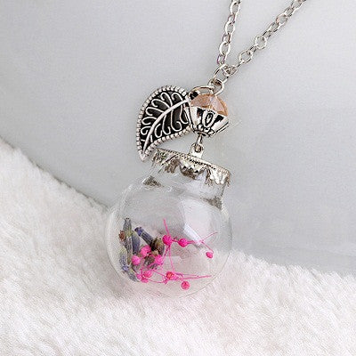 Flower Bottle Necklace - Shevoila Jewelry & Clothing - 2