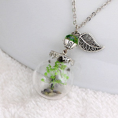 Flower Bottle Necklace - Shevoila Jewelry & Clothing - 8