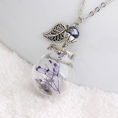 Flower Bottle Necklace - Shevoila Jewelry & Clothing - 4
