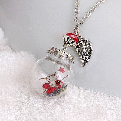 Flower Bottle Necklace - Shevoila Jewelry & Clothing - 9