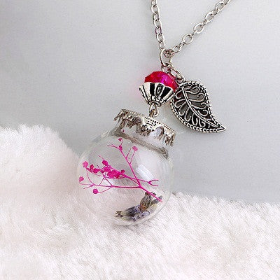 Flower Bottle Necklace - Shevoila Jewelry & Clothing - 10