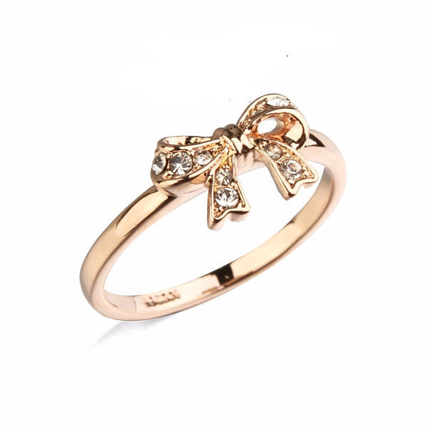 Gold Bow Knot Ring - Shevoila Jewelry & Clothing - 1