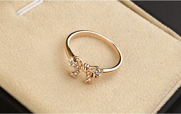 Gold Bow Knot Ring - Shevoila Jewelry & Clothing - 4