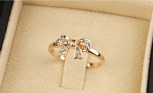 Gold Bow Knot Ring - Shevoila Jewelry & Clothing - 3