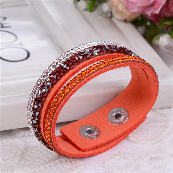 Leather Crystals Bracelets - Shevoila Jewelry & Clothing - 18