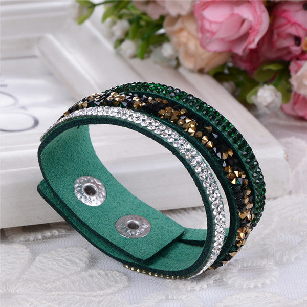 Leather Crystals Bracelets - Shevoila Jewelry & Clothing - 10