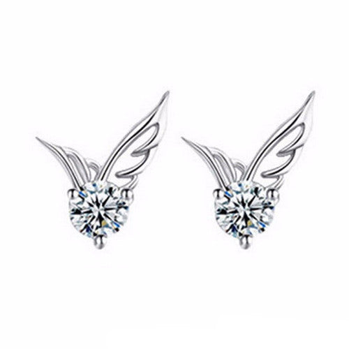 Silver Plated Angel Wings Earrings - Shevoila Jewelry & Clothing - 2