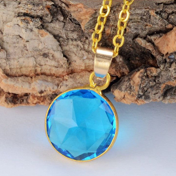 Circle Crystal Necklace - Shevoila Jewelry & Clothing - 3