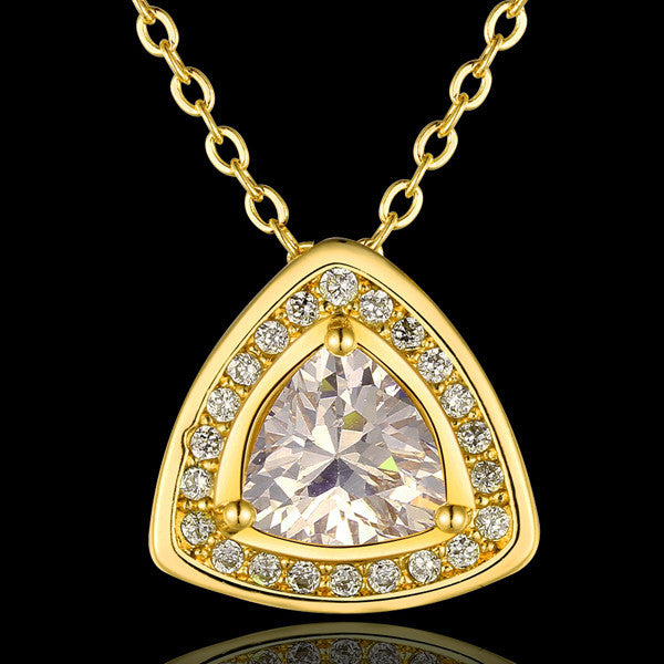Gold Diamond Necklace - Shevoila Jewelry & Clothing - 2